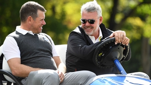 Lee Westwood with Darren Clarke at Hazeltine