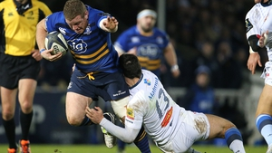 Sean Cronin is tackled Castres' Thomas Combezou in their last meeting