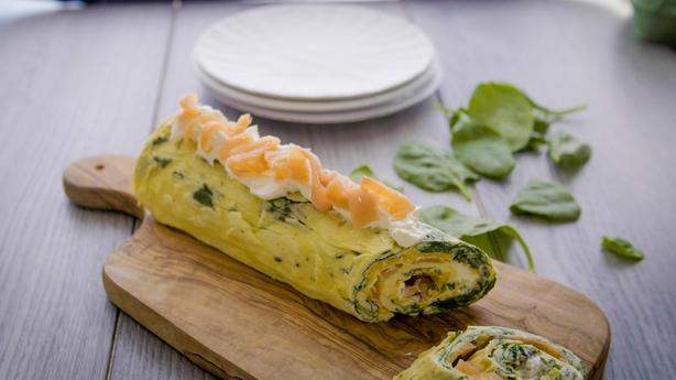 Stuffed rolled omelette