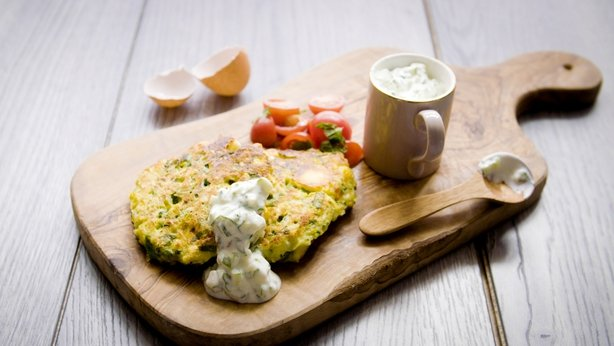 Courgette, feta and sweetcorn
