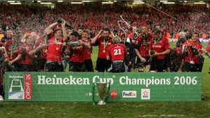 Munster celebrate winning the Heineken Cup in 2006