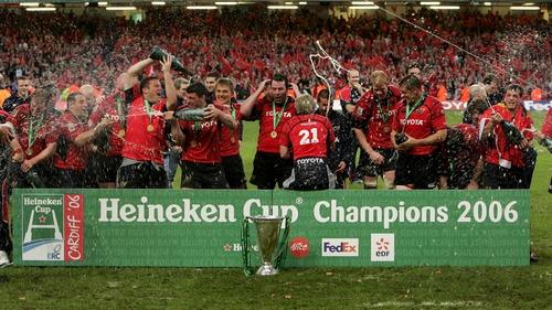 Munster celebrate winning the Heineken Cup in 2006