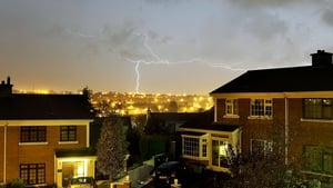 Lightning strikes in Co Waterford (Pic: Noel Browne)