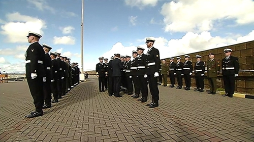 Naval personnel who took part in rescue missions in the Mediterranean were among those to receive the medal