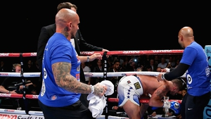 Tony Bellew left the ring immediately after his win to confront David Haye