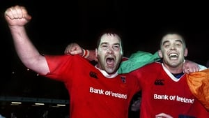 Anthony Foley, pictured with Alan Quinlan, in the red of Munster