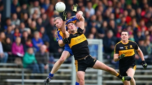 Crokes' Ambrose O'Donovan and Peter O'Shea of Kenmare contest a high ball