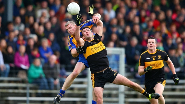 Crokes' Ambrose O'Donovan and Peter O'Shea of Kenmare contest a high ball
