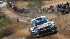 Sebastien Ogier and and Julien Ingrassia in their Volkswagen Polo R WRC