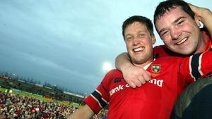 O'Gara and Foley celebrate a Munster victory in 2003