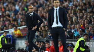 Guardiola is hoping to get the better of Barcelona manager Luis Enrique