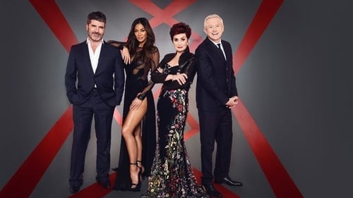 X Factor judges Louis Walsh, Sharon Osbourne, Nicole Scherzinger, and Simon Cowell