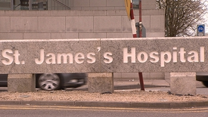 The man was taken to St James's Hospital, but was later pronounced dead
