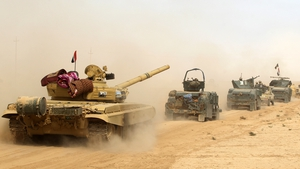 Iraqi forces deploy south of Mosul