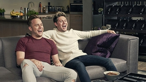 """Murs and Horan pictured chez Murs - Singers """"honoured"""" to appear on the show to raise money for cancer research"""