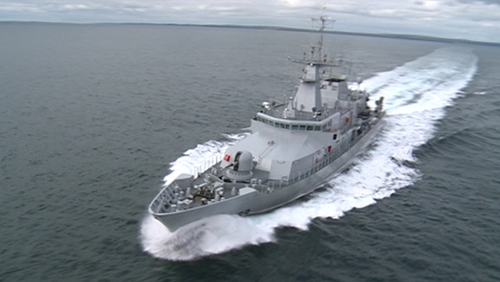 The LÉ William Butler Yeats replaces the LÉ Aisling in the naval fleet (Pic: Defence Forces)