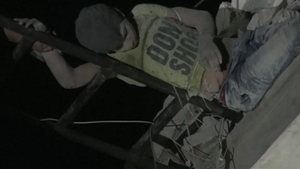 The boy was said to be recovering well after being rescued from the rubble