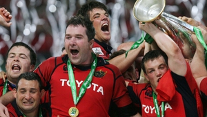 Anthony Foley celebrates a great victory with his team-mates in 2006