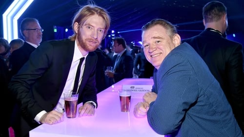 Domhnall and Brendan Gleeson at the after-party for the world premiere of Star Wars: The Force Awakens in Hollywood last December - There won't be much time off in the months ahead!