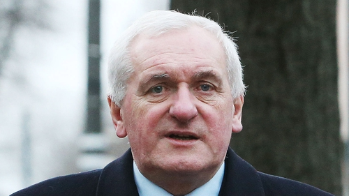 Bertie Ahern resigned from Fianna Fáil in 2012