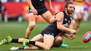 Zach Tuohy in AFL action for Carlton