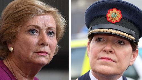 Frances Fitzgerald (l) is said to believe that contingency arrangements are a matter for Garda Commissioner Nóirín O'Sullivan