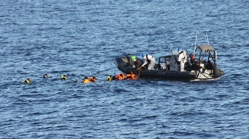 The LÉ Beckett carried out the search and rescue operation at the behest of the Italian Maritime Rescue Co-Ordination Centre (Pic: Irish Defence Forces)