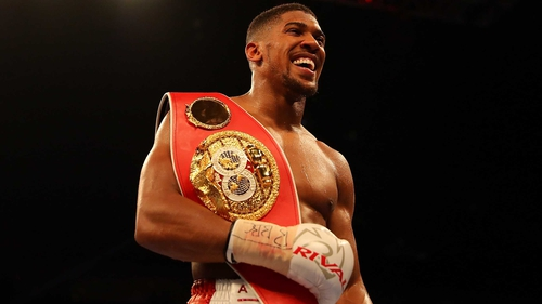 Anthony Joshua: 'Eddie has been on the phone to Tyson, trying to make things happen and support his cause.'