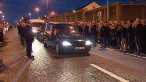 The remains on Anthony Foley outside Thomond Park