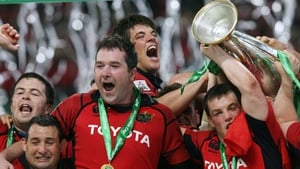 Anthony Foley and his team-mates celebrate that famous triumph of ten years ago