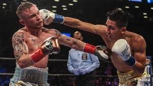 Carl Frampton (L) will face off once again with Mexico's Leo Santa Cruz