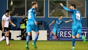 Zenit St Petersburg inflicted a first defeat on Dundalk in the group stages of the Europa League
