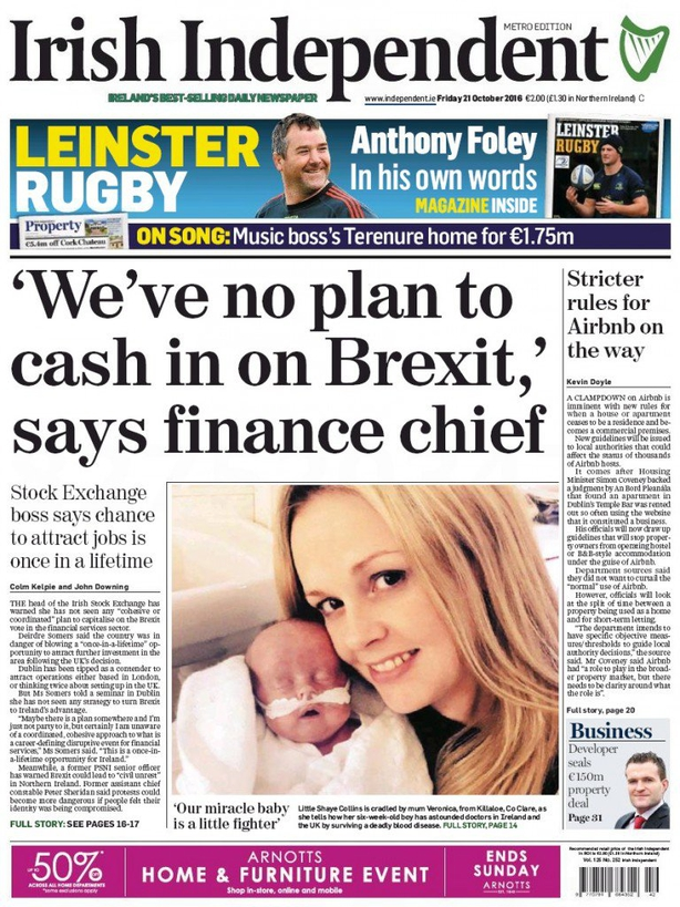 Irish Independent Friday October 21st
