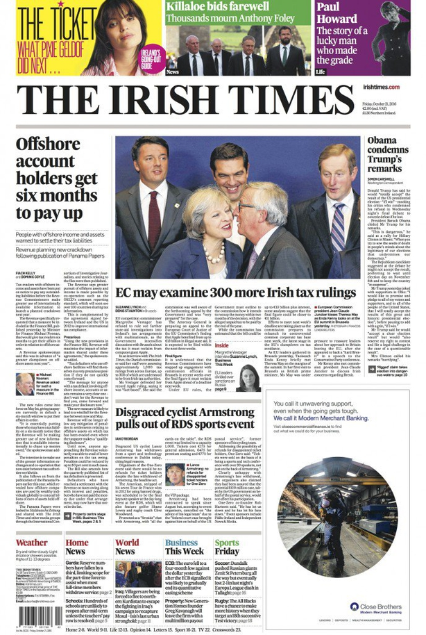 Irish Times Friday October 21st