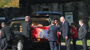 The funeral of Anthony Foley is taking place