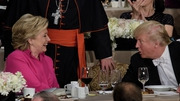 Hillary Clinton and Donald Trump shared the stage at a formal dinner in New York City