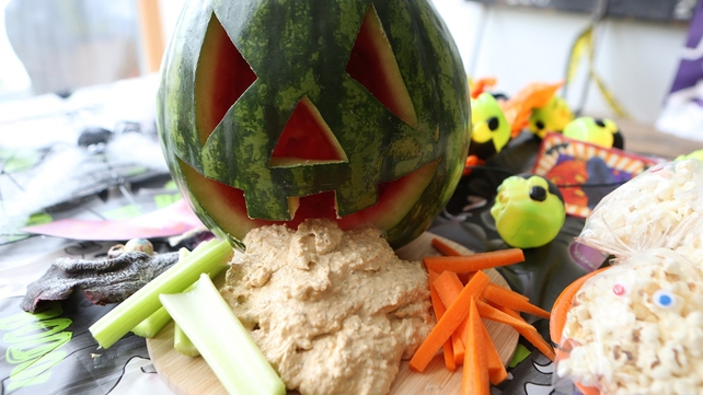 This is a great recipe for getting the kids to tuck into hummus; it is so rich in key nutrients - the perfect thing to have in their tummies before all of the sweets!