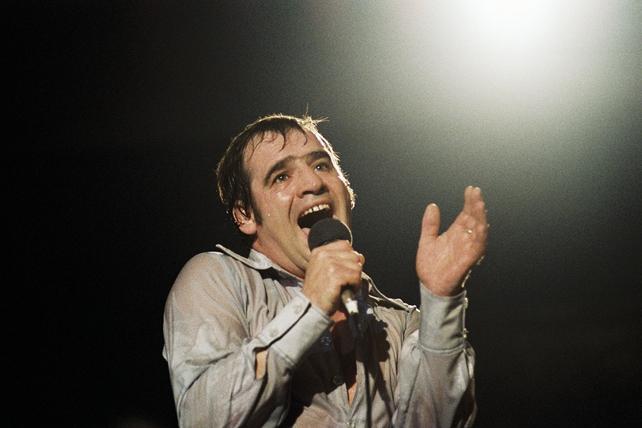 Joe Dolan during The Rose of Tralee final (1980)