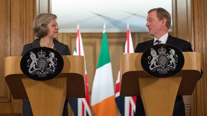 Britsh PM Theresa May and Taoiseach Enda Kenny at a press conference in Downing Street