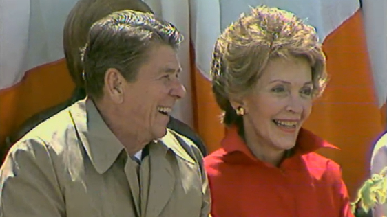 President Ronald Reagan and First Lady Nancy Reagan in Ballyporeen (1984)