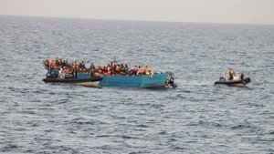 The rescue operation began at 6.30am and all the migrants were taken on board LÉ Samuel Beckett by 2.30pm