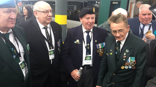 Jadotville siege veterans arrive in Dublin for the wreath-laying ceremony