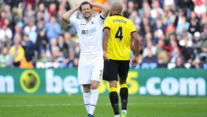 Gylfi Sigurdsson came closest to breaking the deadlock at the  Liberty Stadium