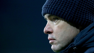 Ireland joint-manager Jeffrey Lynskey had to watch as his team were beaten by Scotland