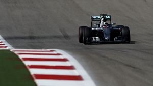 Lewis Hamilton punches the air in Austin
