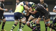 Leinster converge to stop Montpellier's Jacques du Plessis