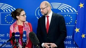 European Parliament President Martin Schulz and Canadian Trade Minister Chrystia Freeland held talks yesterday