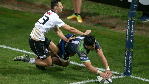 Stacey Ili scores one of his hat-trick of tries as Connacht destroyed Zebre