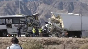 The crash happened about 180kms east of Los Angeles