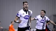 Brian Gartland scored the goal that secured the league title for Dundalk